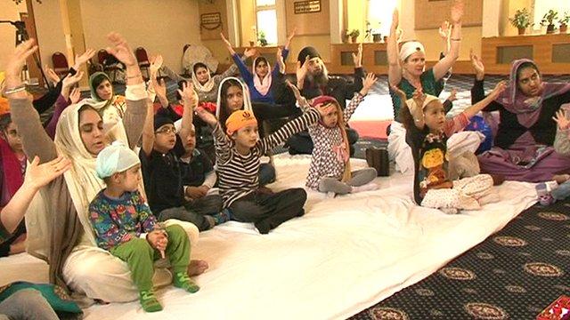 Sikh kids.