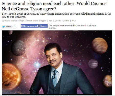 Science and Religion Need Each Other